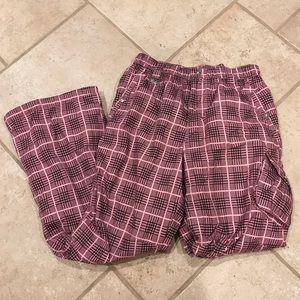 Plaid snow pants